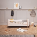 Łóżko WOOD MINI+ JUNIOR BED WHITE/OAK Oliver Furniture