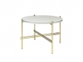 Stolik TS table S Glass / Marble średnica 55cm GUBI