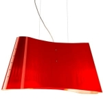 Wave red lampa BSweden