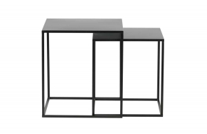 Ziva coffee table metal black - Set of 2 - Woood