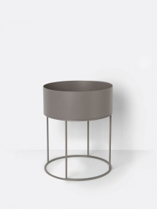 Doniczka Plant Box Round FERM LIVING Warm Grey