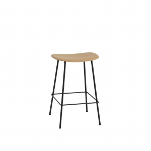 Fiber bar stool tube base high Muuto