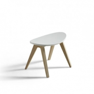 PingPong stołek Wood Collection  Oliver Furniture white/ oak
