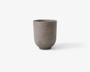 Donica Planter SC44 Ø:55m Silver grey &Tradition