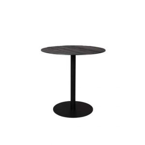 BISTRO TABLE BRAZA ROUND BLACK Dutchbone