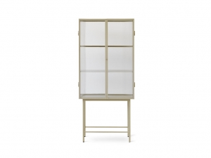 Witryna Haze Ferm Living Reeded glass - Cashmere