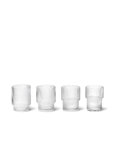 Szklanki Ripple glas ( set 4 ) Ferm Living