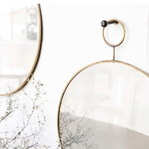Lustro The Loop Brass 38 cm