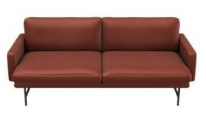 Sofa LISSONI PL112 FRITZ HANSEN SOFT LEATHER