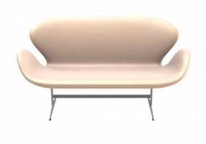 Sofa SWAN 3321 FRITZ HANSEN tapicerka NATURAL LEATHER