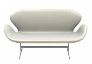 Sofa SWAN 3321 FRITZ HANSEN tapicerka WHITE LEATHER
