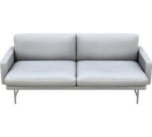 Sofa LISSONI PL112 FRITZ HANSEN Optical White Leather