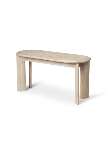 Ławka Bevel White Oiled Oak Ferm Living