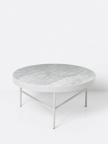 Stolik MARBLE White Large ferm Living