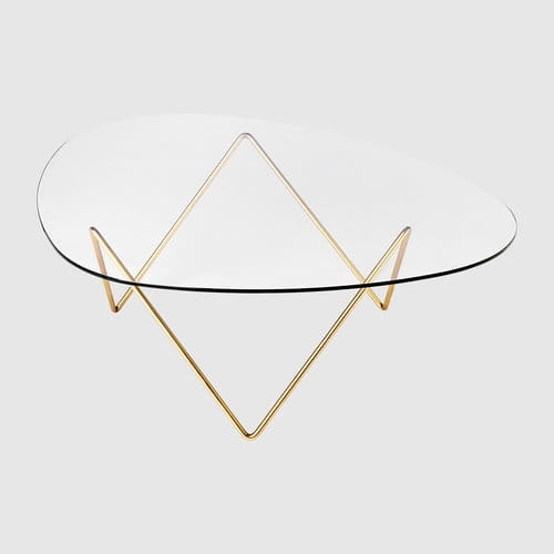 Stolik kawowy PEDRERA table GUBI black or brass