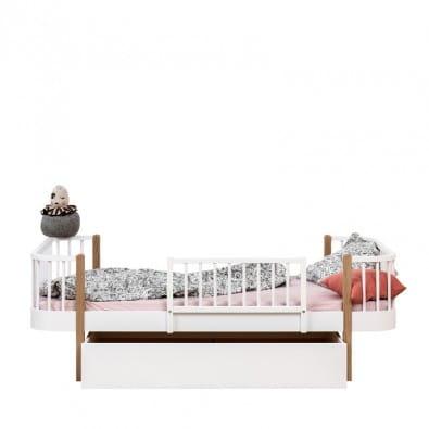 Drewniana Barierka Biała Wood Oliver Furniture