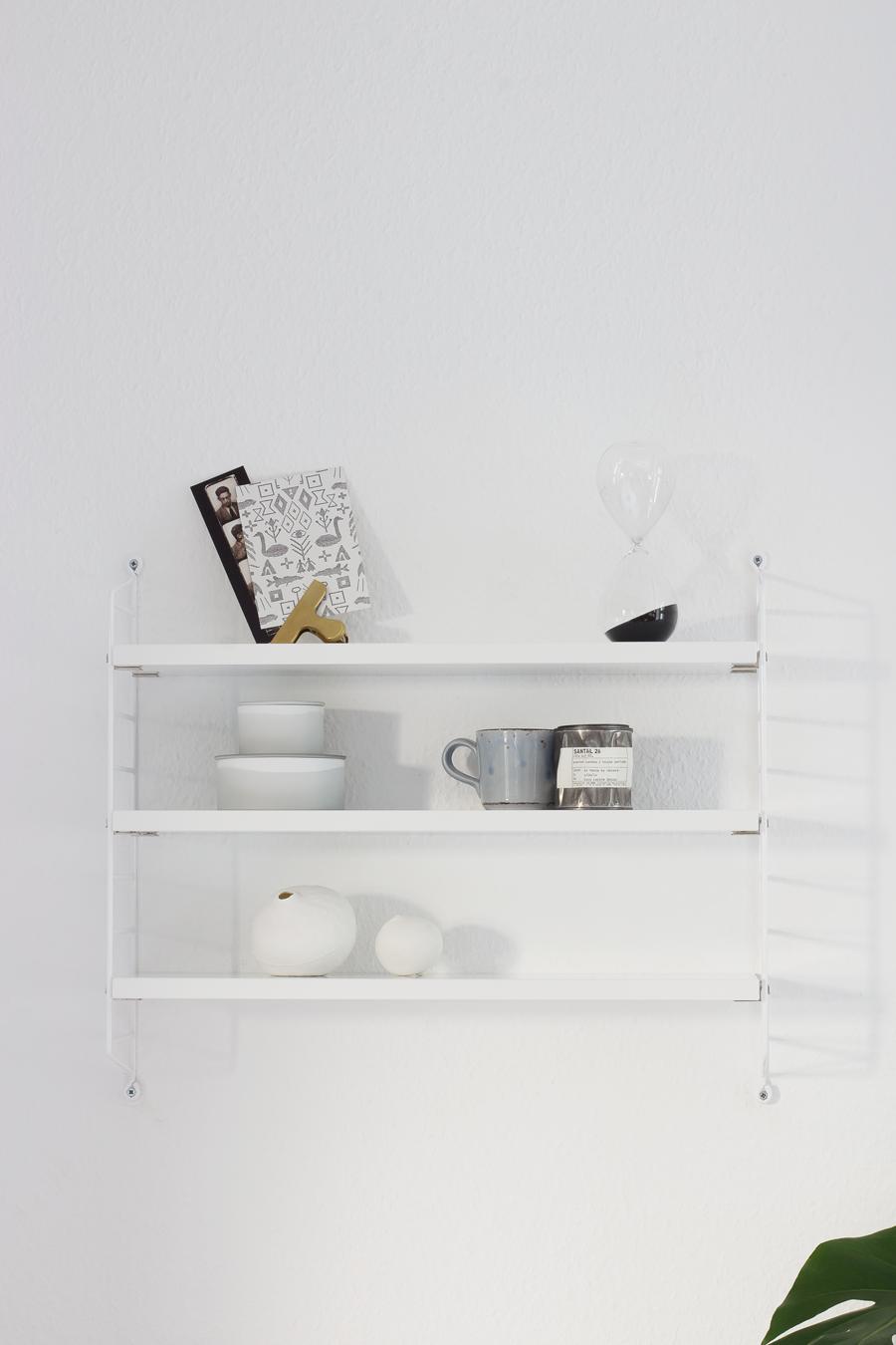 String Pocket Zestaw Białe Panele Białe Półki
